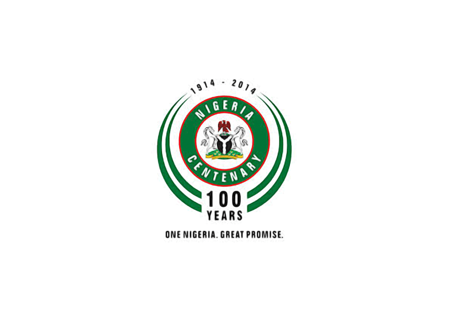 Official Nigeria at 100 logo