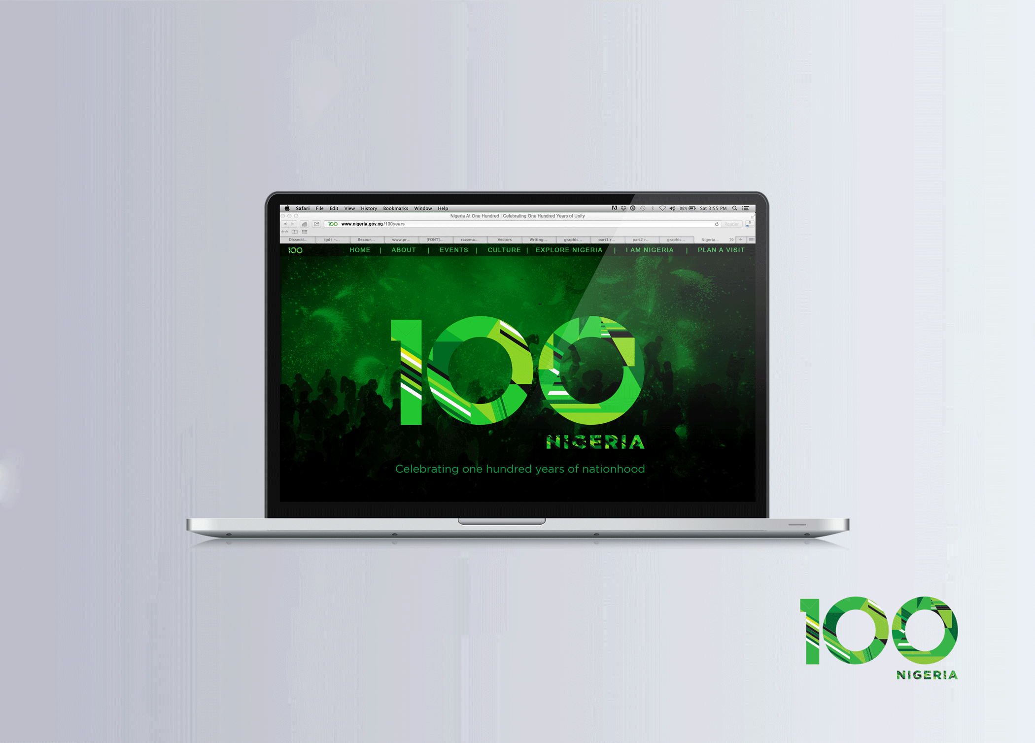 Nigeria at 100 Website Home Page redesign