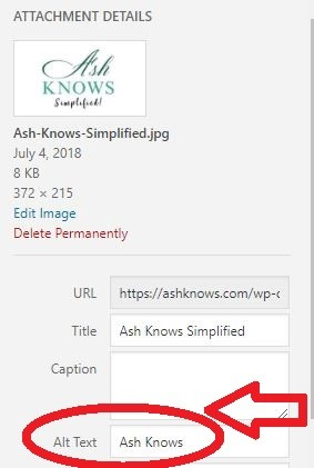 Image Optimization - ASH KNOWS
