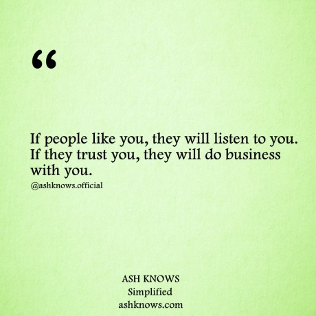 Business Quotes - ASH KNOWS