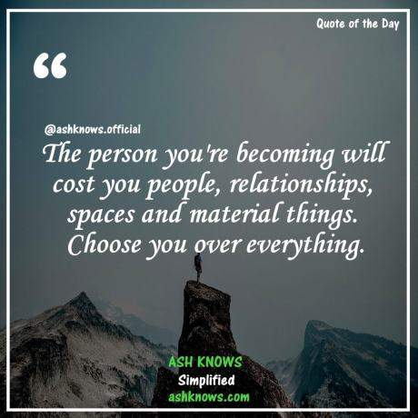 Choose You Over Everything - ASH KNOWS