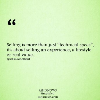 The Art of Selling - ASH KNOWS