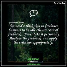 Handling Critical Feedback in Freelancing - ASH KNOWS