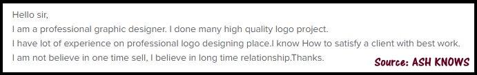 Bad Fiverr Profile Description - ASH KNOWS