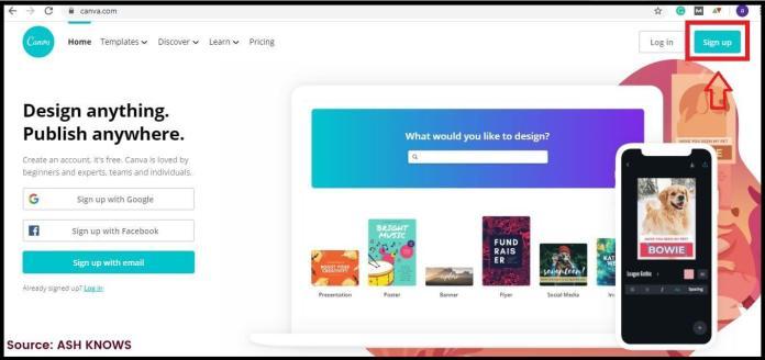 Create Canva Account - ASH KNOWS
