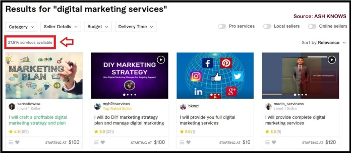 Digital Marketing Services Fiverr - ASH KNOWS