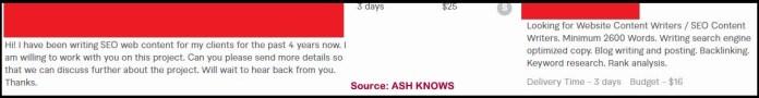 Fiverr Buyer Request - ASH KNOWS
