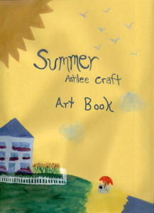 Summer Poetry Art Book by Ashlee Craft - Cover