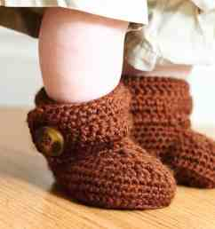 crochet wrap around button baby boots girls and boys ashlee marie real fun with real food [ 1080 x 1080 Pixel ]