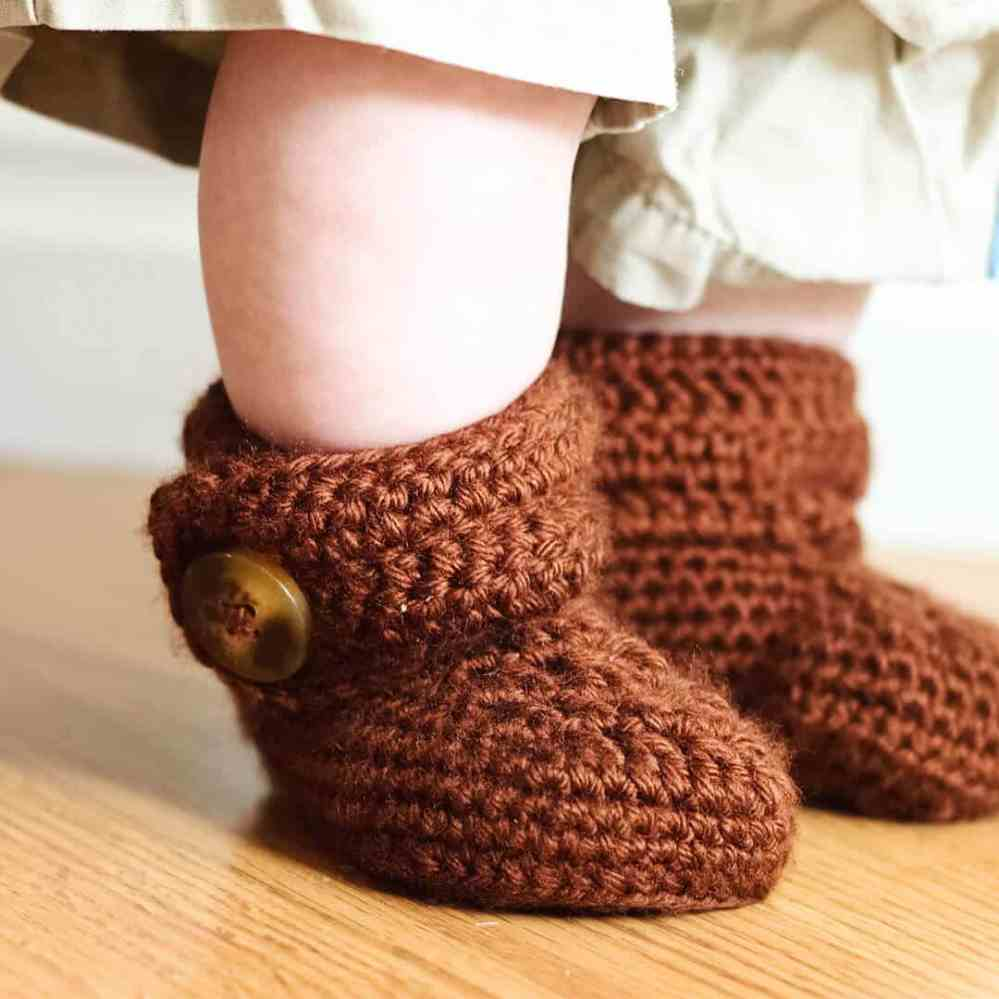 medium resolution of crochet wrap around button baby boots girls and boys ashlee marie real fun with real food