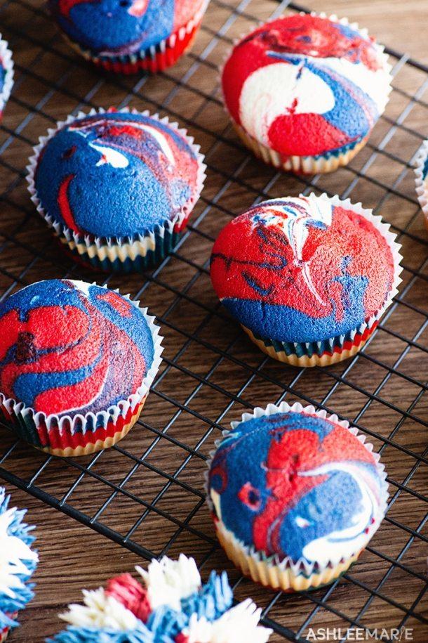 patriotic cupcake
