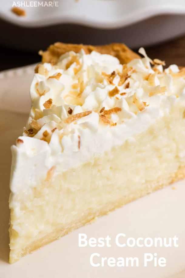 custard based coconut cream pie recipe and video
