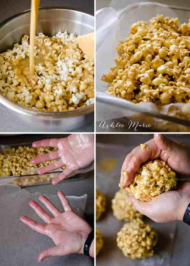 Caramel Popcorn Balls - Ashlee Marie - real fun with real food