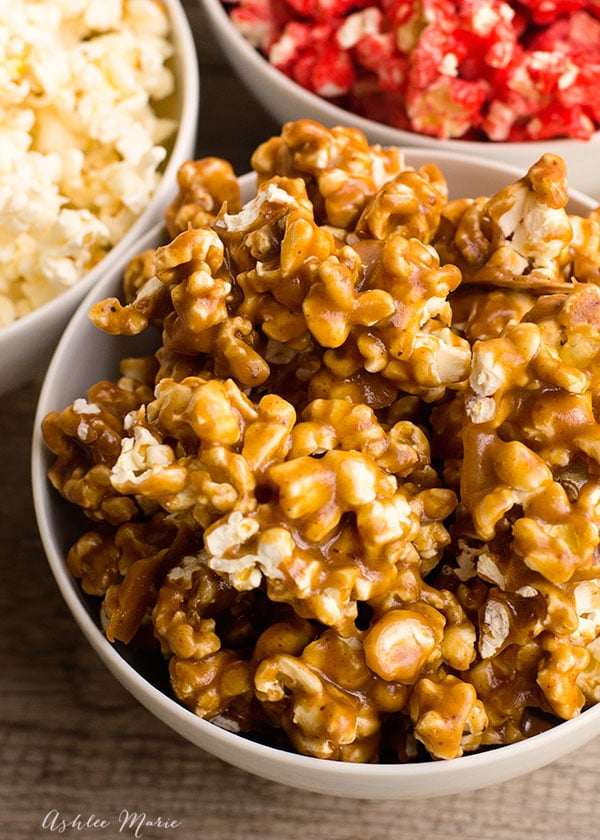 ooey and gooey this caramel popcorn is perfect to represent Mr. Fantastic