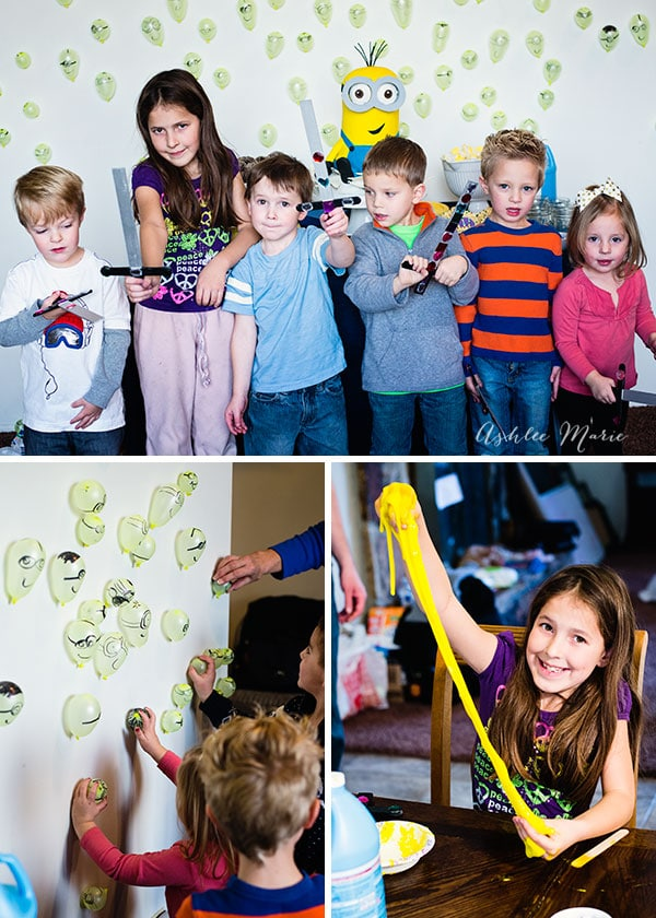 The kids had a ton of fun with all our minion activities, making their own Excalibur, minion slime and playing with hundreds of mini minion ballons, the kids were active and had a great time