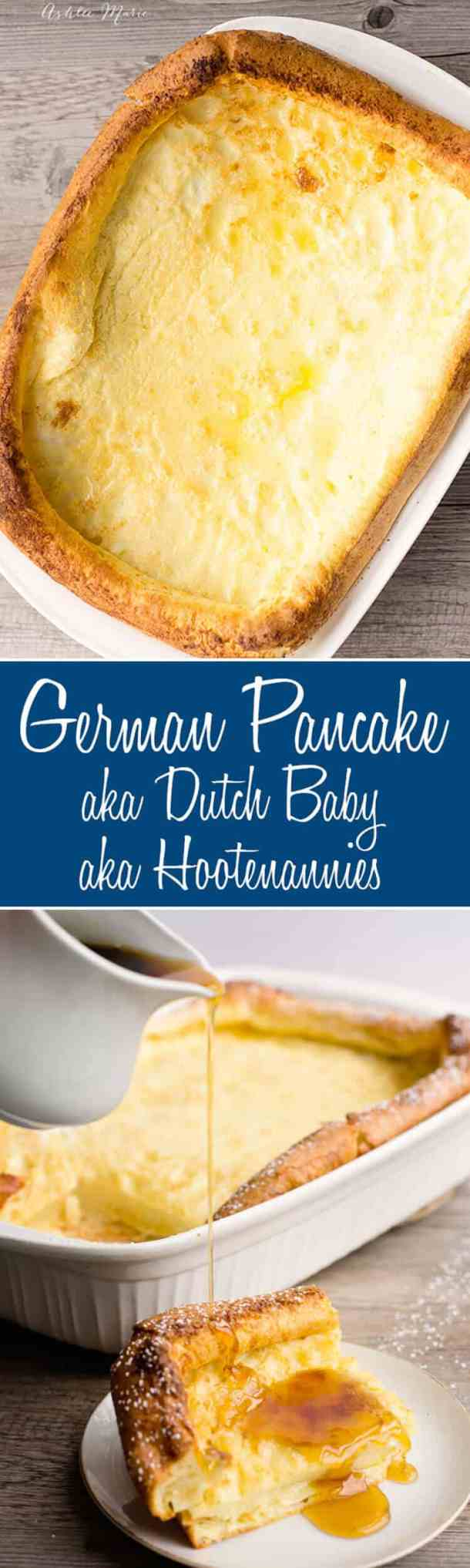 German pancakes are my go to breakfast for dinner, it is easy, tastes great and is filling. Also everyone in the family loves them (they are also known as dutch babies or Ho