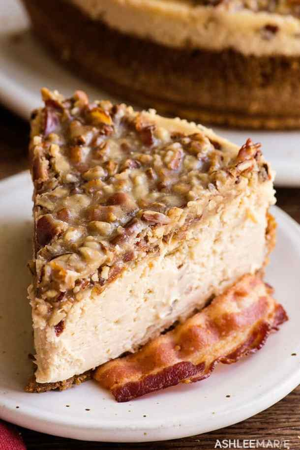 maple bacon cheesecake recipe and cooking video