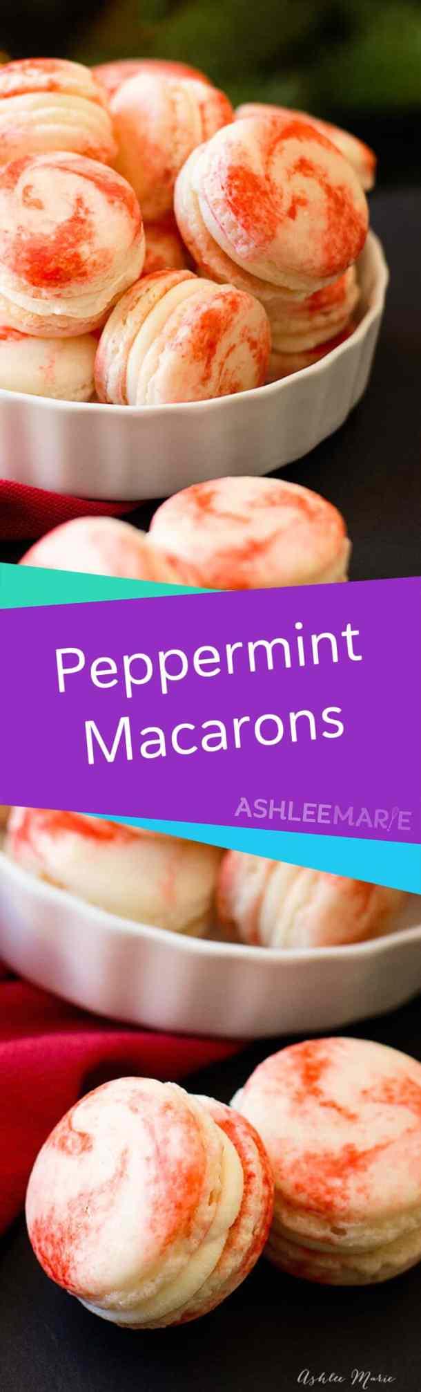 peppermint macaron video tutorial