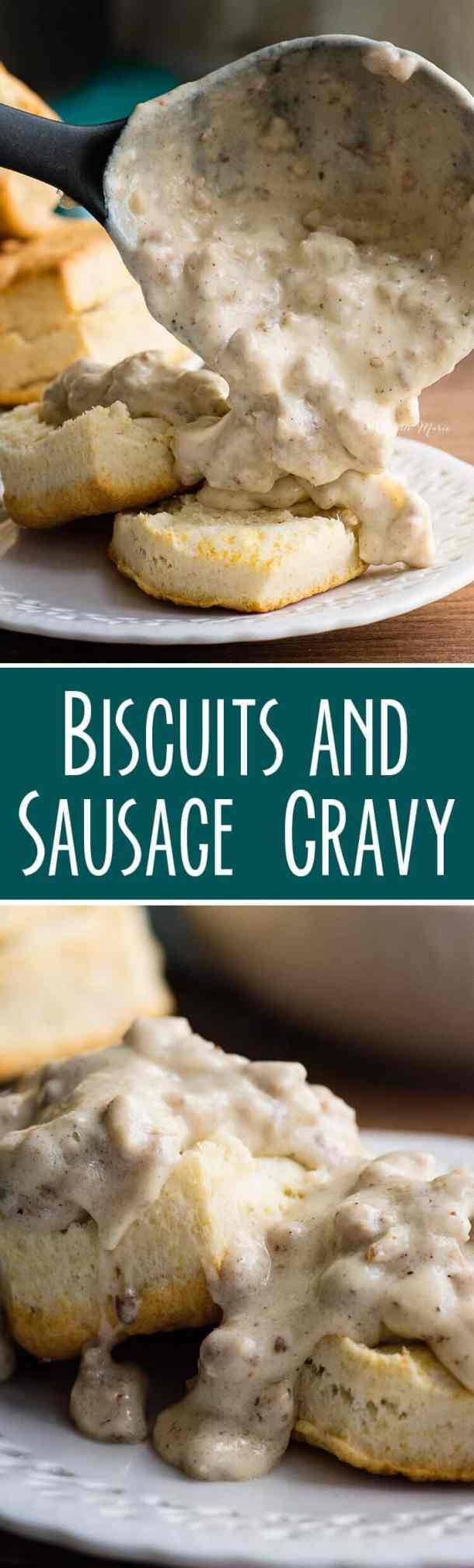 just 6 easy ingredients to make this Biscuits and Gravy recipe!