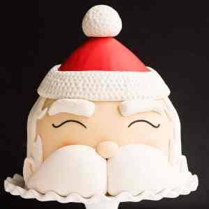 fondant santa head cake