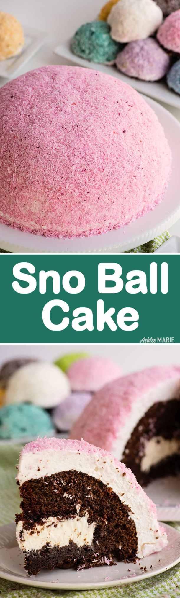make a giant hostess sno ball cake - video tutorial and recipe