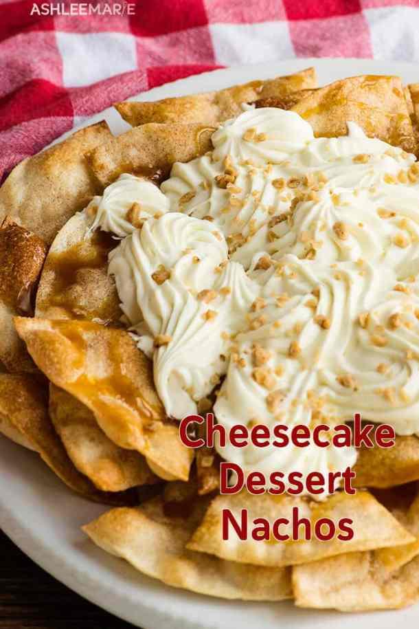 cinnamon sugar cheesecake nachos