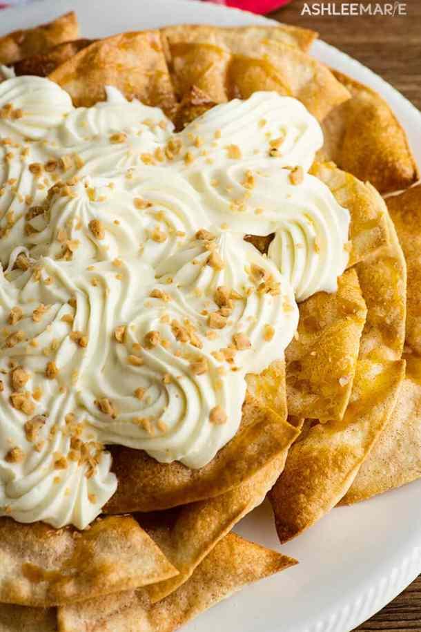 no bake cheesecake nachos