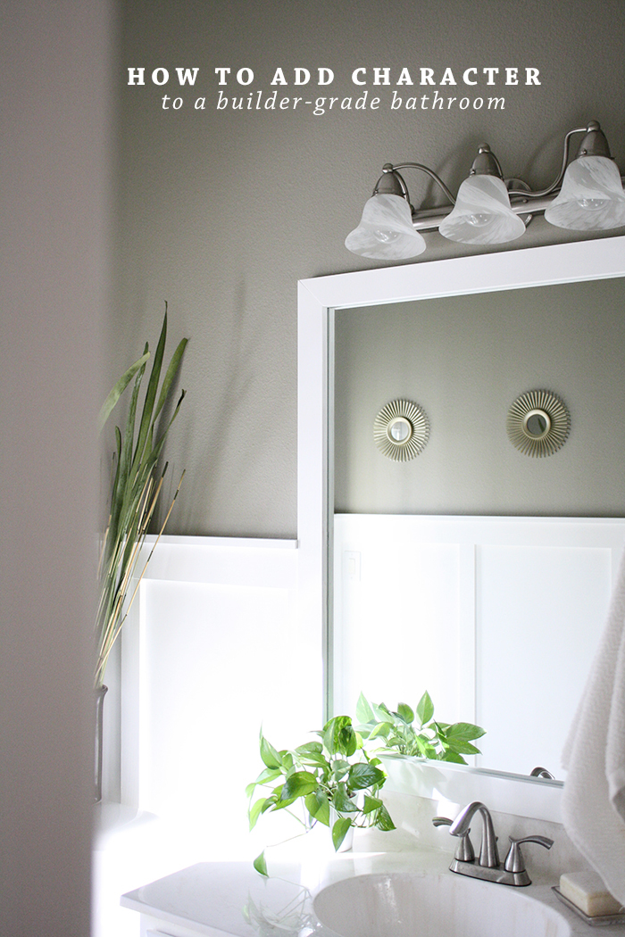 How To Add Character To A BuilderGrade Bathroom  Ashlee