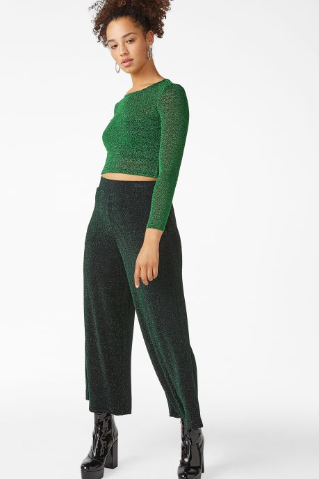 Green glitter top