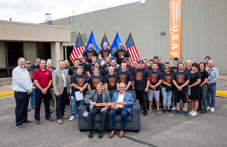 Ashley Furniture Hosts Ribbon Cutting Ceremony at New Upholstery Manufacturing Site in Chippewa Falls