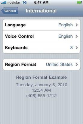 Iphone Region settings tip