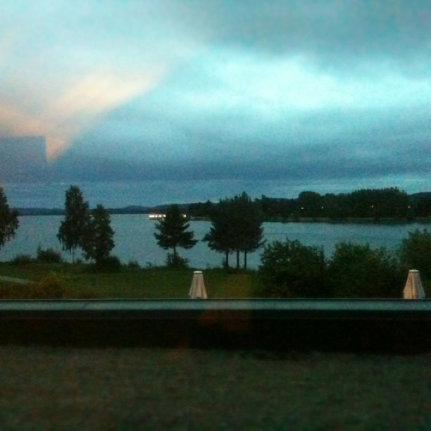 Filtered via dirty Window, another Midnight in Sweden