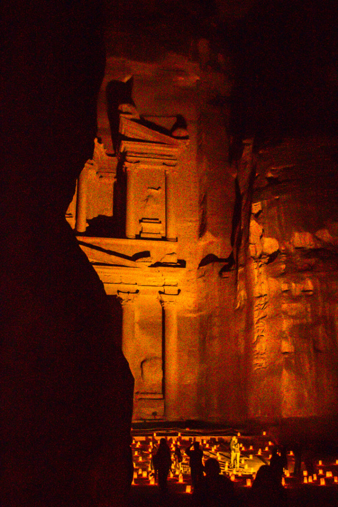 The Treasury by Candlelight. Petra, Jordan