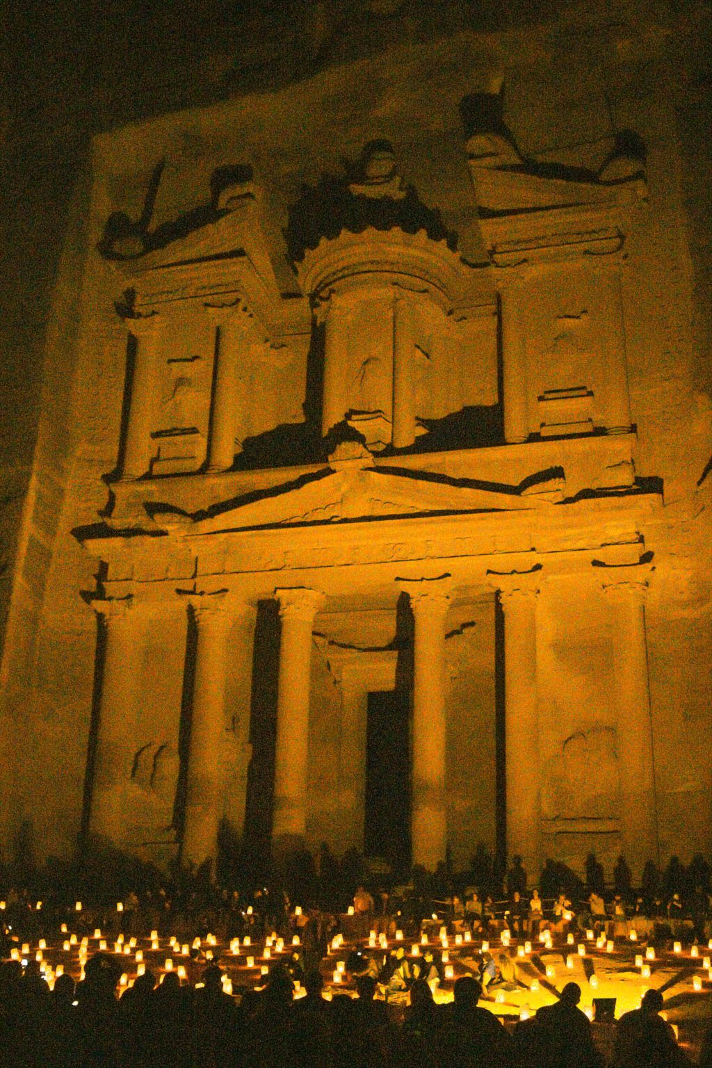 Petra at night