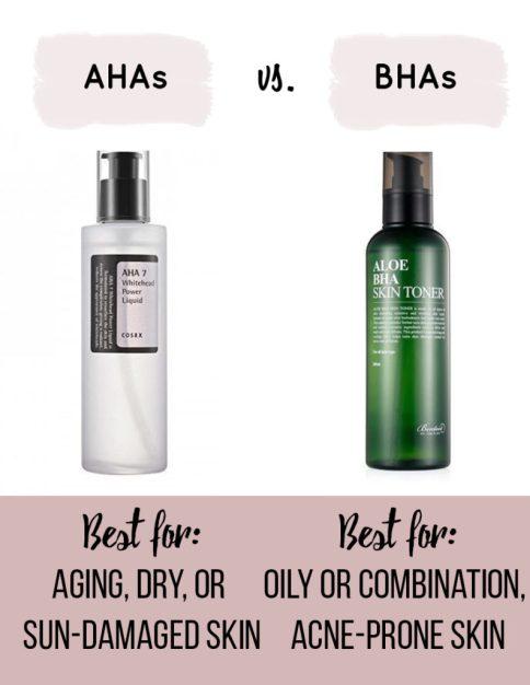 Korean Skincare Routine AHAs vs BHAs
