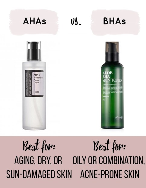 Korean Skincare Routine AHAs vs BHAs