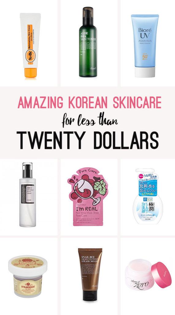 cheap korean skin care