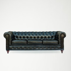 Tufted Leather Sofa With Rolled Arms Next Lawson Check Arm Baci Living Room
