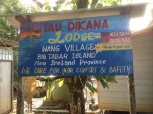 Tau Dikana Lodge on Big Tabar