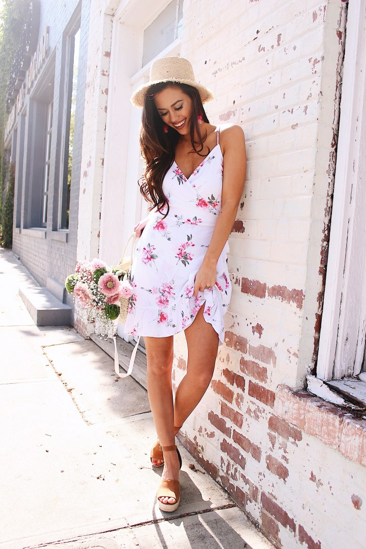 Rose Fields Wrap Dress