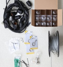 blogger ashley brooke s husband ryan shares how to hang diy string lights in your  [ 1250 x 1500 Pixel ]
