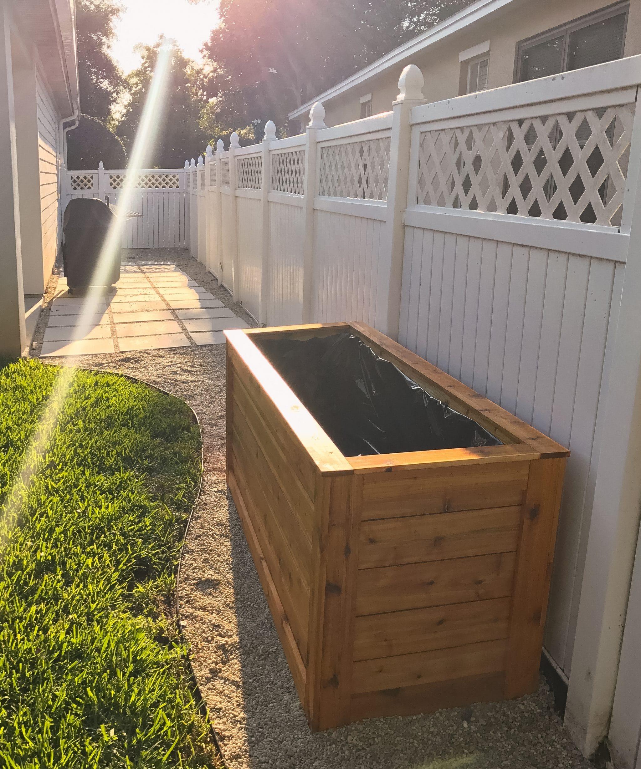 how to build a cedar wood planter box