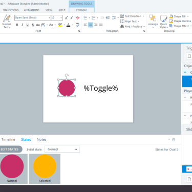 Creating a Quick Toggle Switch in Articulate Storyline