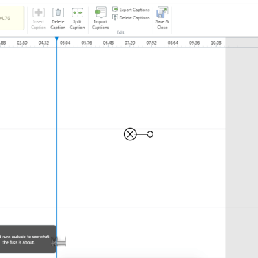 Closed Captions in Articulate 3/360 With No Audio or Video