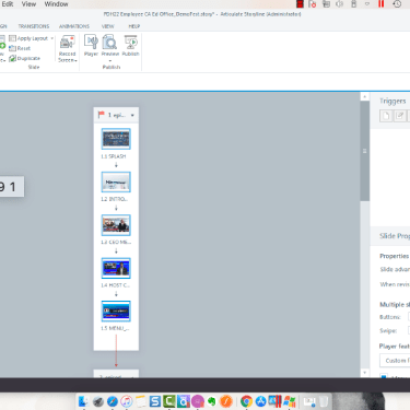 Adjusting Slide Properties from Story View in Articulate Storyline 360