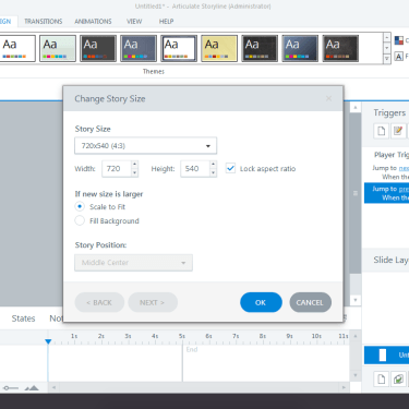 Change Default Story Size in Articulate Storyline