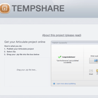 Upload Articulate Projects to TempShare
