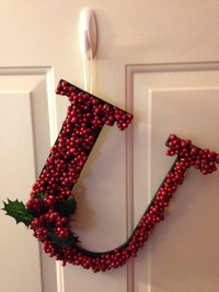DIY Monogram Door Decoration for Christmas  Ashley Does