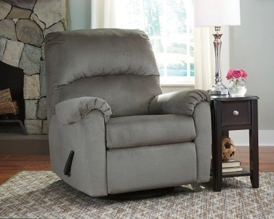 ashley furniture swivel chair that stand you up bronwyn glider recliner | homestore