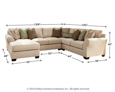 Wilcot 4 Piece Loveseat Sectional Ashley Furniture Homestore